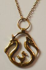 Vintage KOPI Bronze Denmark Smykker Museum Viking Animal Heads Necklace