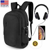 Anti Theft Business/Travel, Water Resistant Laptop Backpack with USB Charge Port