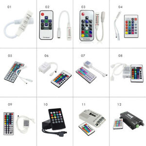 DC5-24V RGBW Mini 3/10/17/24/44 Keys WiFi Infrared Dual Panel Remote Control LED