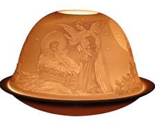 Krippen DOME LIGHT Windlicht Starlight Porzellan Kuppel plus Teller für Teelicht