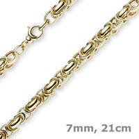 7mm Armband Armkette Königskette aus 585 Gold Gelbgold 21cm rund abgerundet