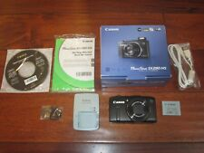 Canon PowerShot SX280 HS 12.1MP Digital Camera - Black MINT COND.