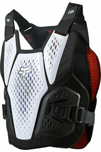 New 2021 Fox Racing Raceframe Impact Soft Back Chest Protector White MX ATV