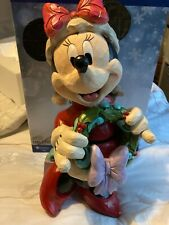 More details for disney traditions 17inch minni seasons greetings large jim shore christmas
