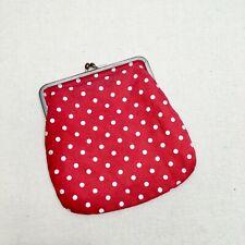 Cute Little H&M Red And White Polka Dot Clutch Purse