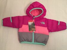 $99 The North Face 'Moondoggy' Reversible Down Jacket Baby Girl Size 0-3 M~NWT~2