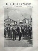 L'illustrazione Italiana 5 Settembre 1897 Faure Peterhof Centenario di Donizetti