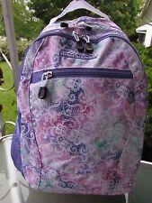 High Sierra Curve 29L Backpack Lavender/White/Green Book bag Everyday Backpack