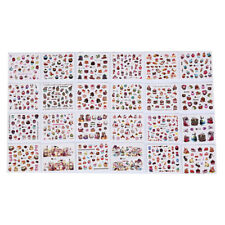 24 sheets mixed designs watermark decals water transfer nail art sticker diySC