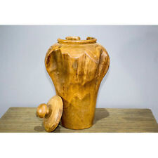 Handmade Wooden Abstract Decorative Vases