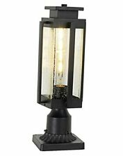 """New listing Outdoor Post Light Fixtures 18"""" Large Exterior Post Lantern with Pier Mount"""
