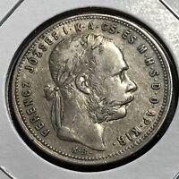 1881 AUSTRIA SILVER FORINT HIGH GRADE COIN