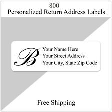 800 Return Address Labels Personalized Printed 12 X 1 34 Monogrammed