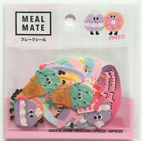 Meal Mate Flake Sticker 40 Junk Food Burger Potato Popcorn Fruits MADE IN JAPAN