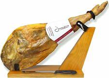 Serrano Ham Bone in from Spain 15-17lb + Ham Stand + Knife | Spanish Jamon