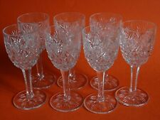 "SEVEN CLARET WINE GLASSES CRYSTAL SAINT LOUIS FLORENCE height 5""1/2"