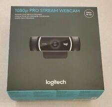 Logitech 1080p Pro Stream  Webcam - New - Ready To Ship