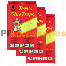 Pack of 12 Disposable Glue Traps Board for Mice Rats Mouse Super Stick Tray LOT