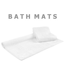 Bath Mat Set of 2 Greek Key Design 100% Cotton Material Hotel Quality 850 GSM