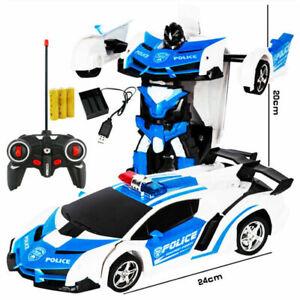 Transformer RC Robot Police Car Remote Control 2 IN 1 Kids Boys Toys Xmas GiftUK