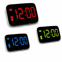 """Large LED Digital Alarm Snooze Clock Voice Control Time Display 5"""" Screen"""