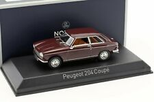 PEUGEOT 204 COUPE 1967 Maroon - 1/43 - NOREV