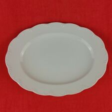 Rosenthal Monbijou weiß Platte Servierplatte Fleischplatte oval 33 cm Porzellan