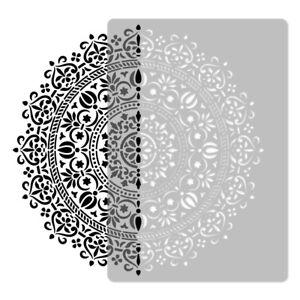 Reusable PLASTIC Wall STENCIL Template / 45x65 or 65x95cm Art Craft / MANDALA #1