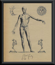 Aleister Crowley Autograph Facsimile & Engraving Reprint On Very Old Paper *P123
