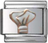 POLICE HAT Enamel Italian 9mm Charm NC233 Fits Nomination Classic