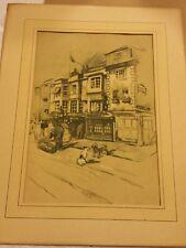 Vintage,  sketch of The Mitre Turl St Oxford, England  framed