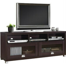 TV Cabinet with Doors Stand for Flat Screen 65 Inch Media Storage Unit