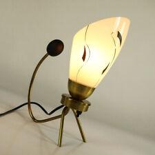 Tisch Lampe Stilnovo Ära Lese Leuchte Messing & Glas 50er Jahre alt Krähenfuß