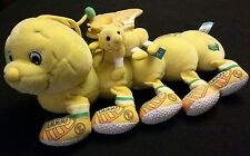 "Lots A Leggggggs 14"" 1999 10 Leg Plush YELLOW Caterpillar key chain butterfly"