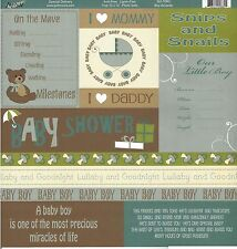 MOXXIE -  Boy Accents Journal Scrapbooking Paper 1093 Double Sided Baby