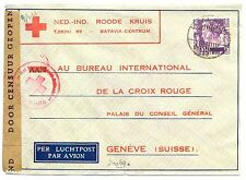 NED INDIE DUTCH INDIES 1941-1-28  RED CROSS-CENSOR PM-MALANG-FROM =BATOE=