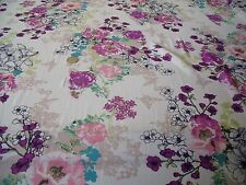 "Black and Silver floral Burnout chiffon dress fabric 58/"" wide M145-66 Mtex"