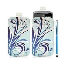 Housse coque étui pochette pour HTC Desire Z avec motif HF08 + Stylet luxe