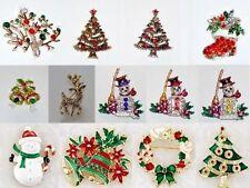 Rhinestone Diamante Costume Brooches & Pins