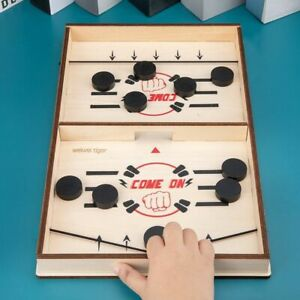 Hockey Sling Puck Game Paced Toys Board-Game Party For Adult Child Family