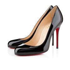 Christian Louboutin | Fifi | Black Patent | UK 6 | EU 39 | RRP £455 | 110mm Heel