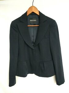 Emporio Armani black blazer wool single breasted Made in Italy size 4