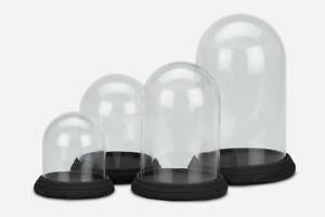 NaDeco Glasdom mit schwarzem Betonsockel in 4 Größen Auswählbar Glas Dome Glasha