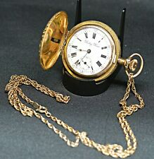 VINTAGE 1800'S PHILADELPHIA WATCH CO 19J BETSY ROSS GOLD FILLED POCKET WATCH S16