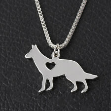 Silber Hunde Anhänger Halsketten schöne Schäferhund Unisex Stil Halskette CATH