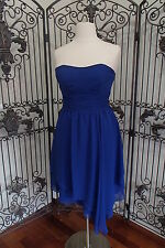 1475 ALFRED ANGELO 7196 SZ 16 MED BLUE $164  BRIDESMAID PROM FORMAL GOWN DRESS