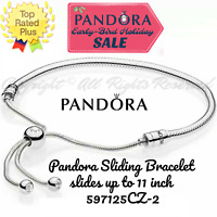 Authentic Pandora #597125CZ-2 Adjustable Sliding Bracelet 28cm max New in Box