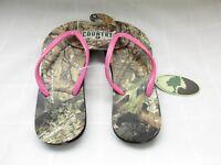 NEW! Women's Mossy Oak Break Up Country M032 Thong Flip Flop Sandal Pk/Camo W20