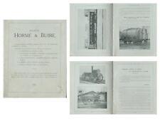 BROCHURE SOCIETE HORME ET BUIRE - vers 1920 - WAGONS, CHEMIN DE FER, FONDERIE