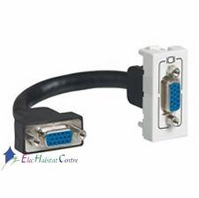 Prise vidéo HD 15 femelle préconnectorisée 1 module Mosaic blanc Legrand 78777